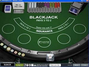 Il blackjack di Betfair
